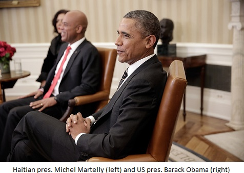martelly and Obama a