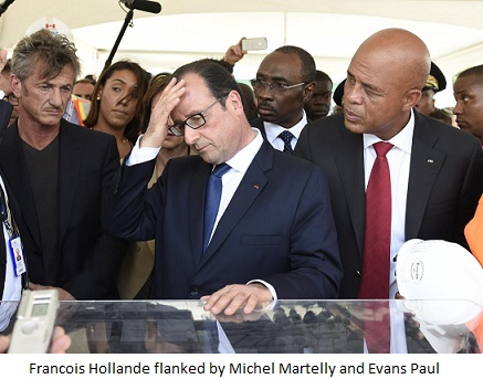 Francis Hollandem Michel Martelly